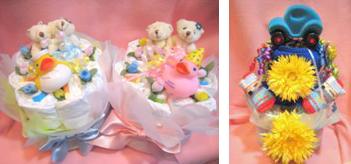 プリーズマミーおむつケーキ写真